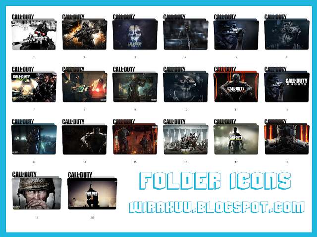 20 Folder Icons Game Call Of Duty (Windows 7, 8, 10)