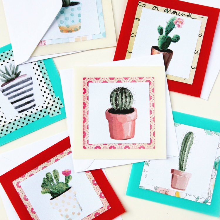 Diy Watercolour Succulent Notecards