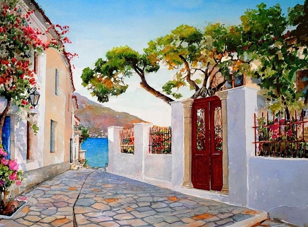 Cuadros modernos pinturas y dibujos paisajes pintados en - Cuadros para casa ...
