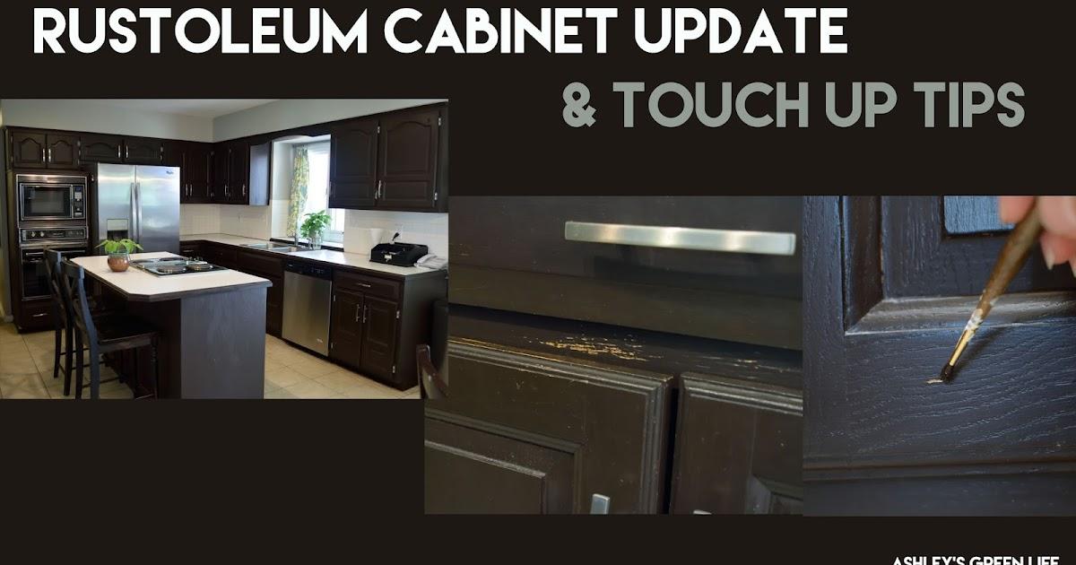 Ashley S Green Life Rustoleum Kitchen Cabinet Update