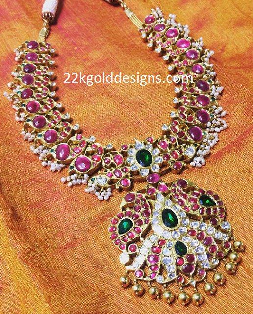 Peacocks Kundan Necklace