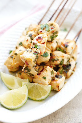 grilled cilantro-lime chicken kebabs