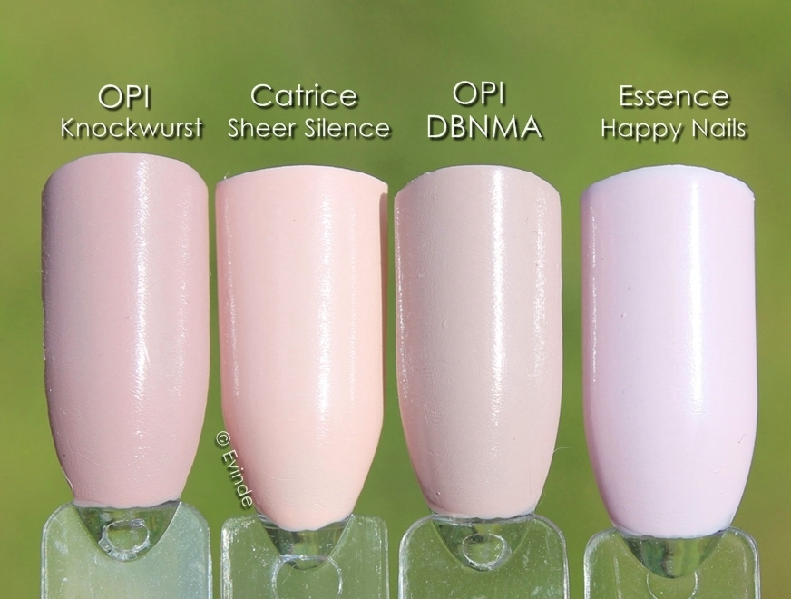 opaque pale pink nail polish swatches