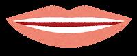 「い」を発音する口の形のイラスト
