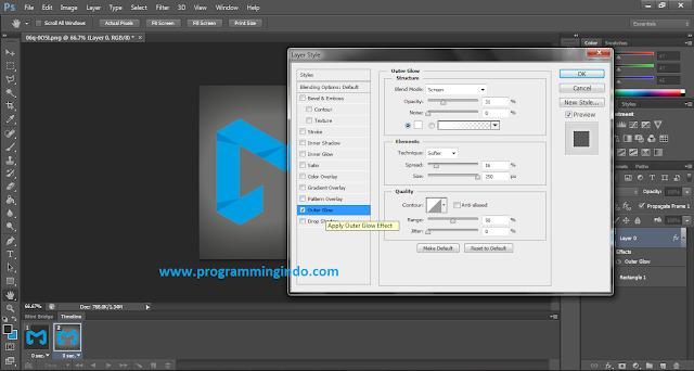 Animasi Bercahay dengan Menggunakan Photoshop CS6 sangatlah mudah untuk dibuat