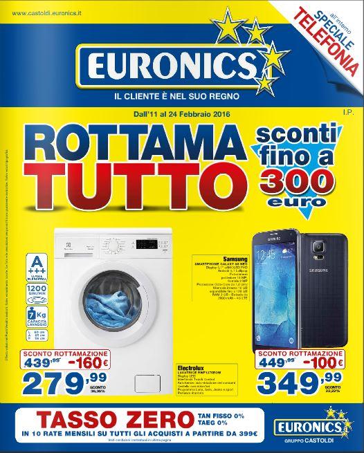 Volantino Euronics Castoldi - 11-24 Febbraio 2016 - Ultimo - Nuovo