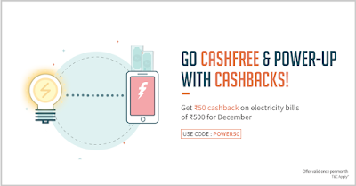 FreeCharge Rs.50 Cashback on Bill Payment. [Promo Code]
