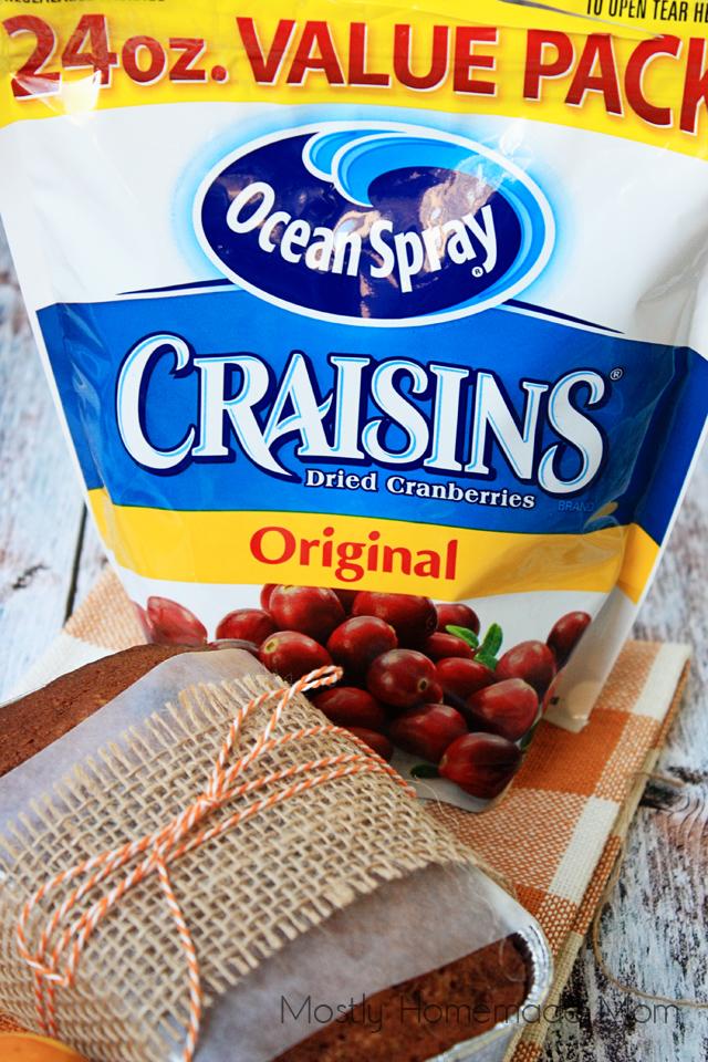 Mini Cranberry Pumpkin Bread with Craisins