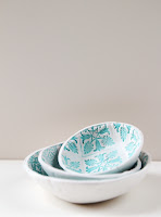 Make these Stamped Clay Bowls using air dry clay