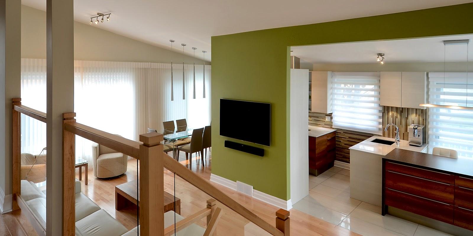 l 39 espace d co avant apr s la cuisine au centre d 39 une aire ouverte des plus modernes. Black Bedroom Furniture Sets. Home Design Ideas