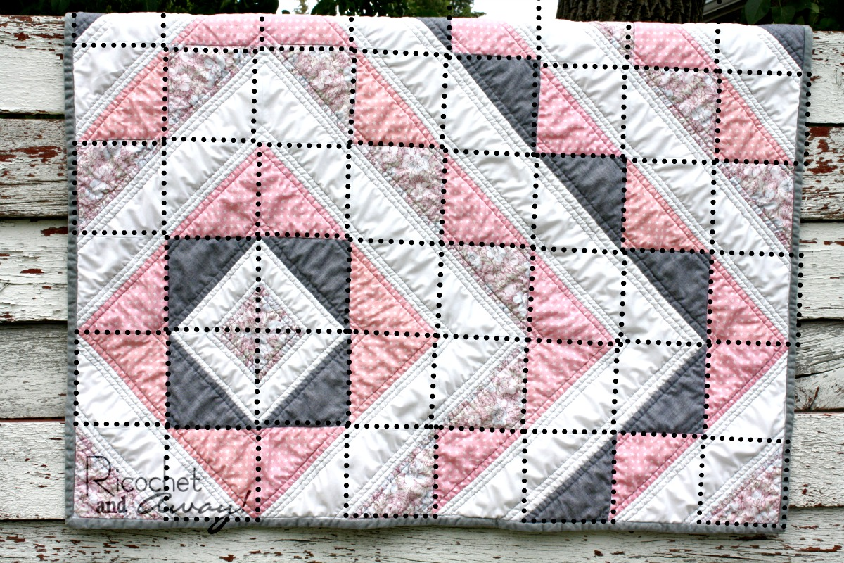 As You Can See From The Photo Below Quilt Is Made Up Of Half Square Triangles Or Hsts I Ve Outlined Hst Blocks With A Black Dotted Line In