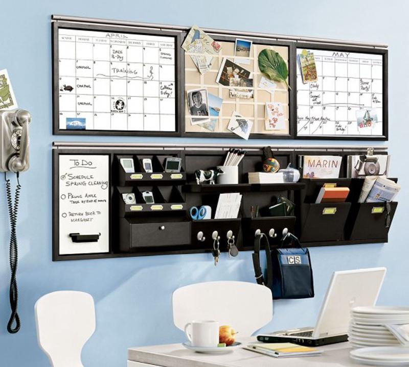 Pink stinx home organization center - Home office organization ideas ...