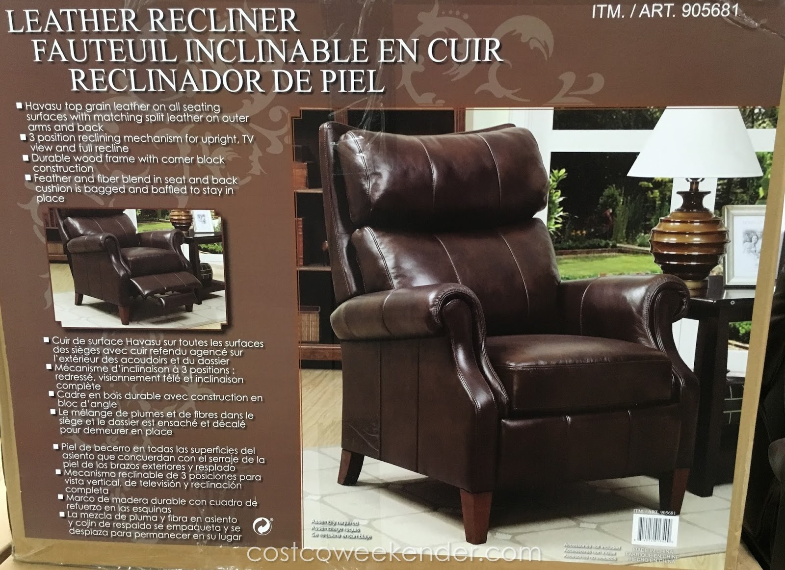 synergy recliner chair rustic accent chairs home furnishings leather costco weekender relax in comfort and style on the