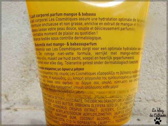Les Cosmétiques (Carrefour) - Lait Corps - Mangue & Babassu