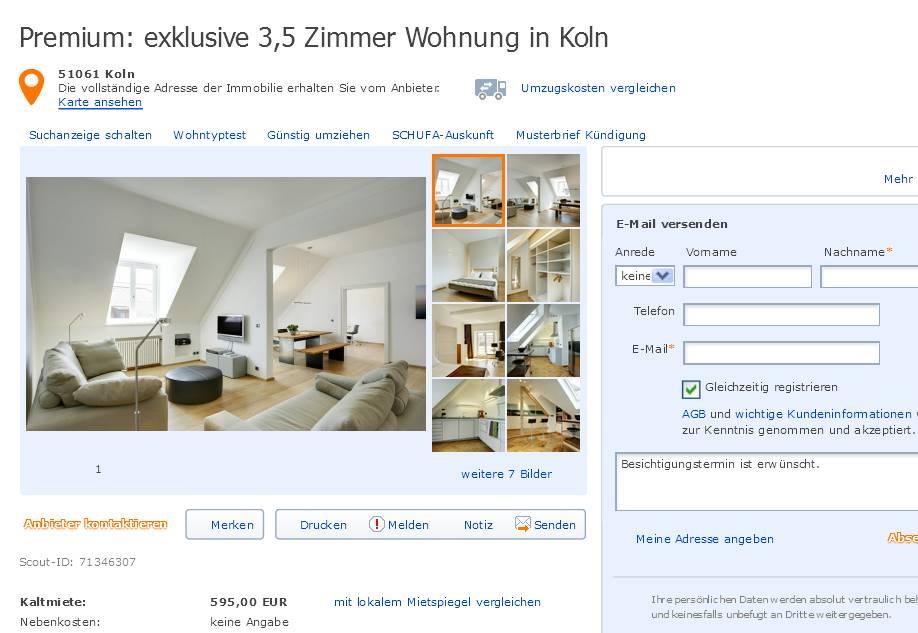 3 Zimmer Wohnung Koln