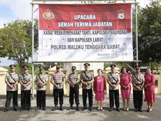 Andre Sukendar Pimpin Sertijab 4 Pejabat Utama di Polres MTB