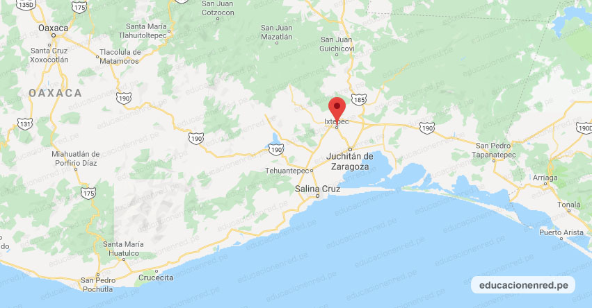 Temblor en México de Magnitud 4.2 (Hoy Jueves 16 Enero 2020) Sismo - Epicentro - Ixtepec - Oaxaca - OAX. - SSN - www.ssn.unam.mx