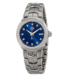 Tag Heuer Link Blue Diamond Dial Ladies Watch