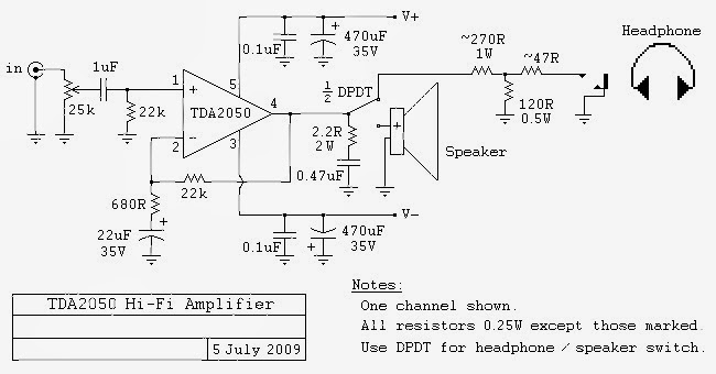 diy tda2050 ic hi fi chip amplifier details and. Black Bedroom Furniture Sets. Home Design Ideas