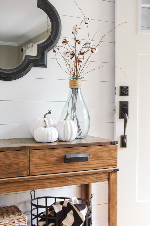 An easy tutorial to make inexpensive faux pumpkins look impressively real. www.littlehouseoffour.com