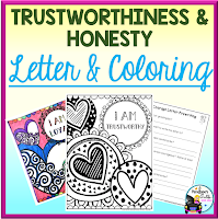 Trustworthiness and Honesty Letter and Coloring Sheets