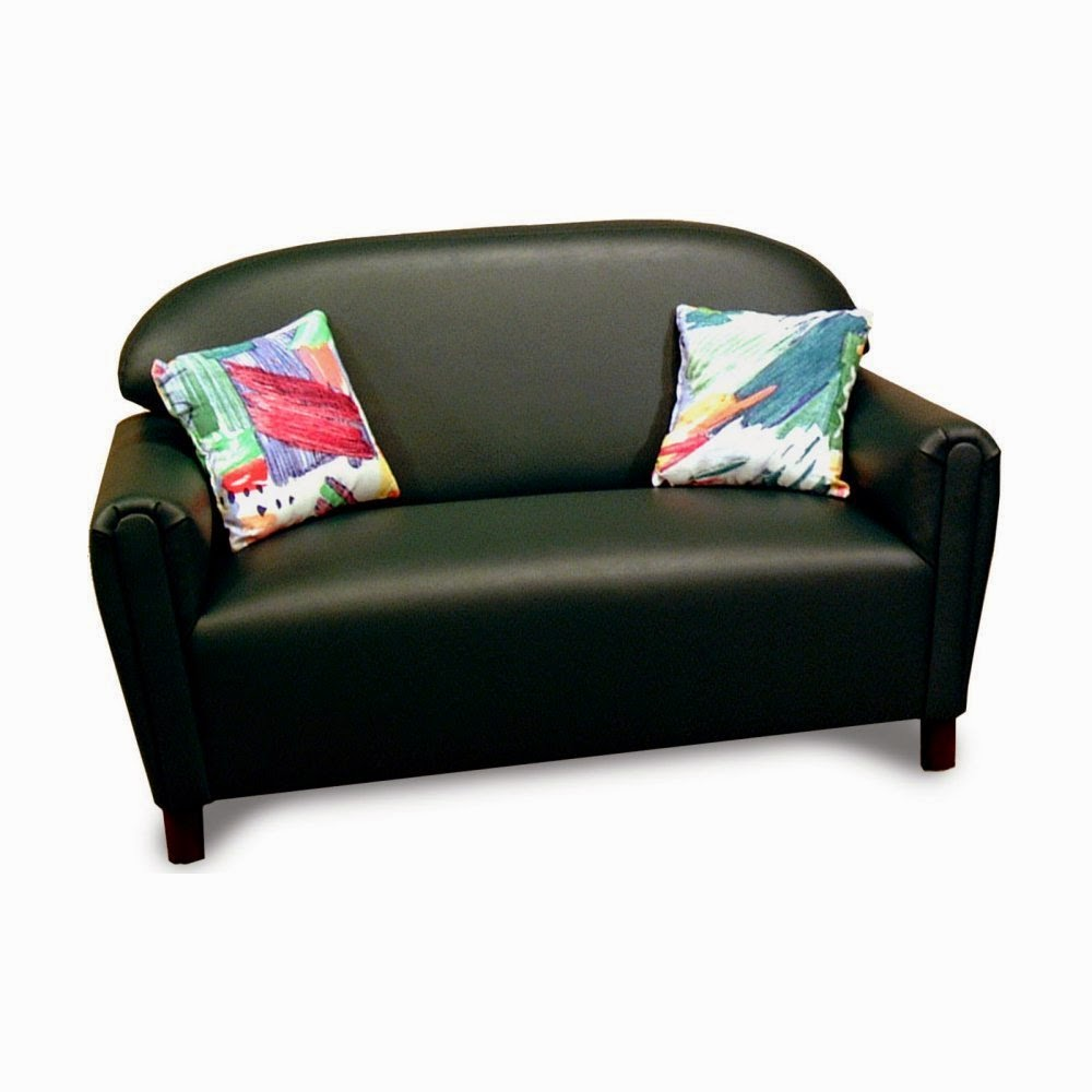 Beautiful Brand New World Vinyl Kids Leather Couch