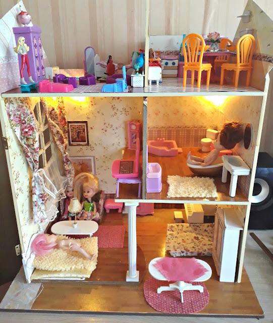 как собрать домик для кукол, house dolls