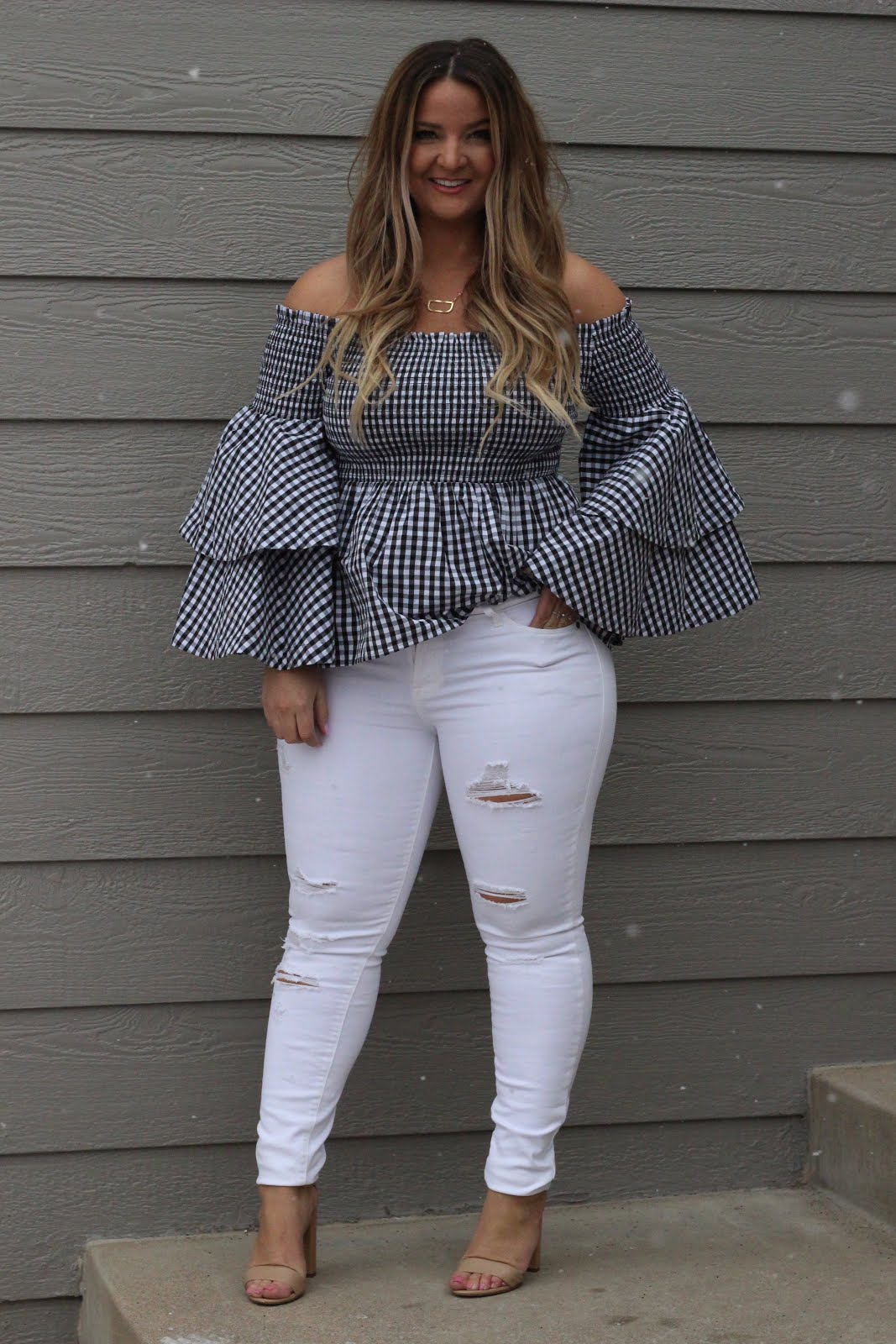Gingham Top for Spring by popular Denver fashion blogger Delayna Denaye