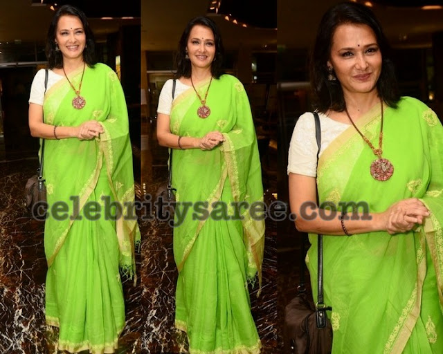 Amala Neon Green Saree