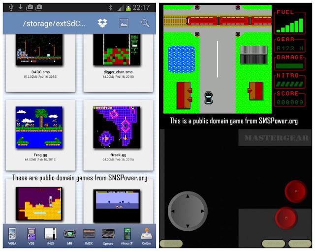MasterGear SMS/GG Emulator ROMS