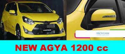 New AGYA Facelift 1200cc bertipe mesin LCGC