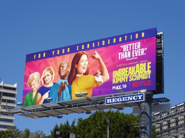 Kimmy Schmidt season 3 FYC billboard
