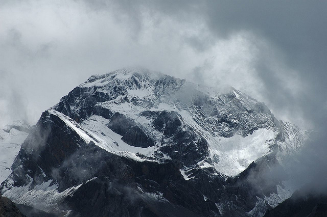 View of the Om Parvat en route to Mount Kailash