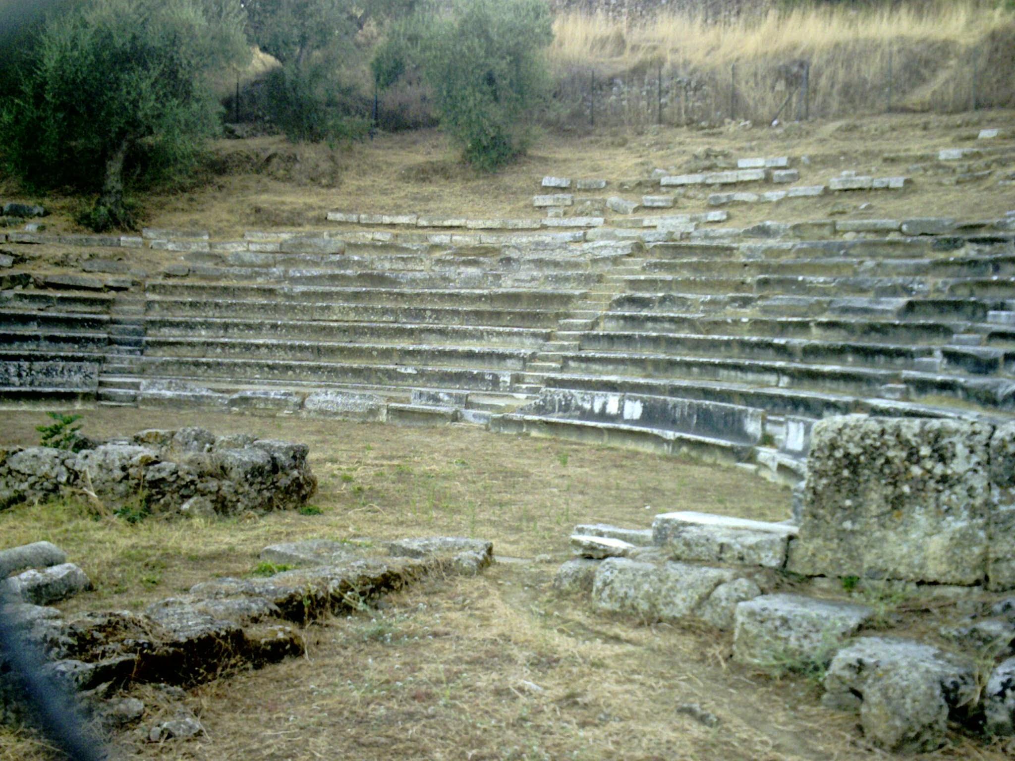 Gythio, Península de Mani, Pelopones, Grecia, Teatre romà