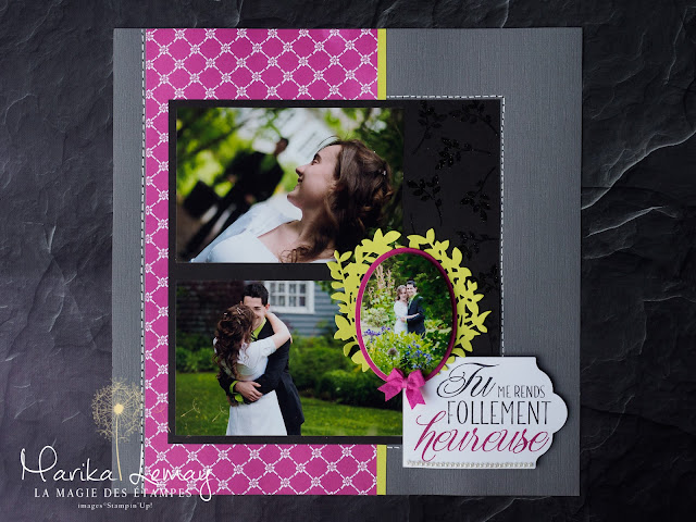 page de scrapbooking avec Adorables amis Stampin' Up!