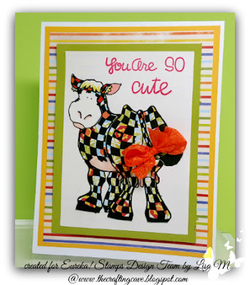 Paper Piecing Checkered Cow Digital Image