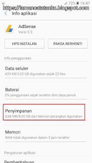 pindahkan aplikasi adsense ke penyimpanan eksternal