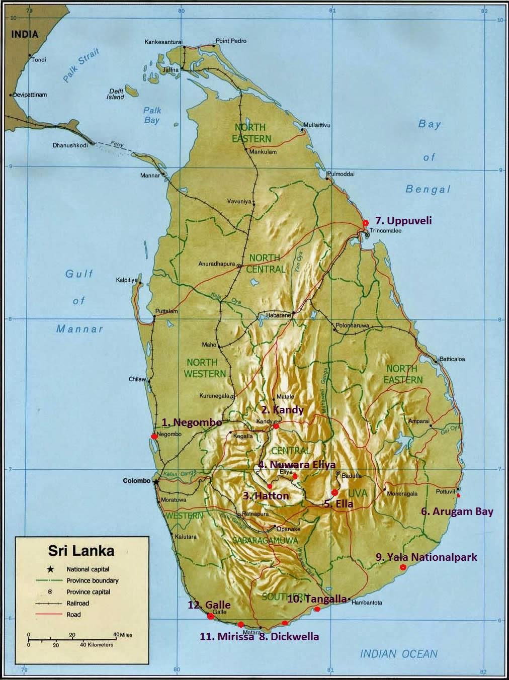 Sonnentanz Reiseroute Sri Lanka 106 7713