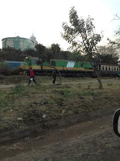 Treno pendolari a Nairobi