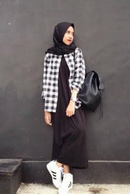 Kemeja Flanel Wanita Hijab 7