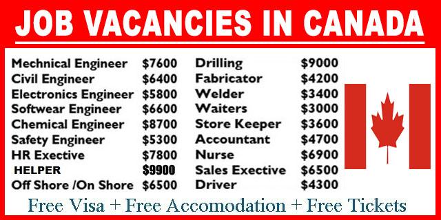 Jobs Vacancies In Canada Job Vacancy
