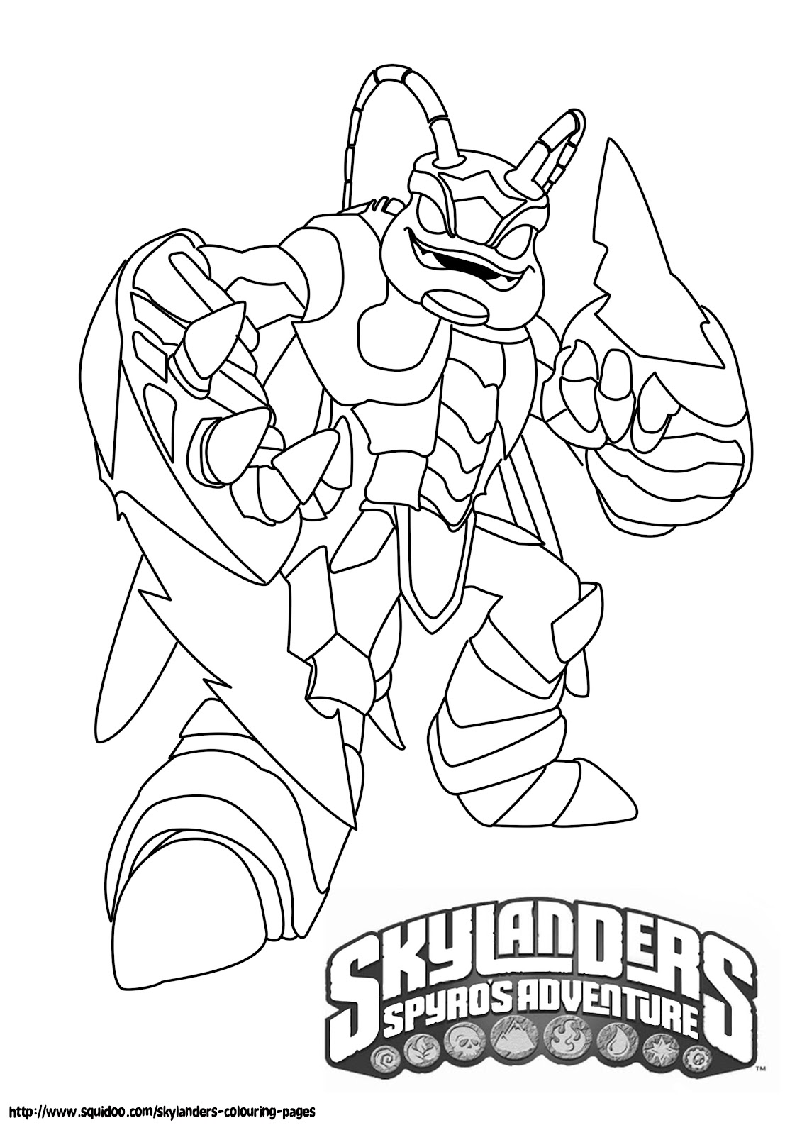 skylanders giants coloring pages | Unique Comics Animation: good skylanders coloring pages
