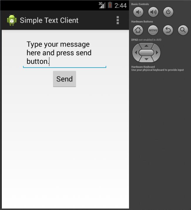 Lak J Comspace: Simple Android Client-Server Application