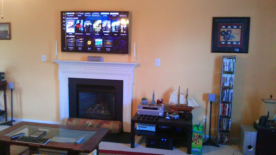 I Ve Had A Tv Above My Fireplace For Years It S Not An Ideal Place But The Most Central Location Have When Your Seated On