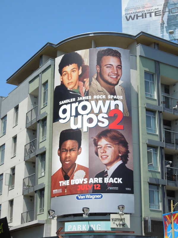 Grown Ups 2 movie billboard