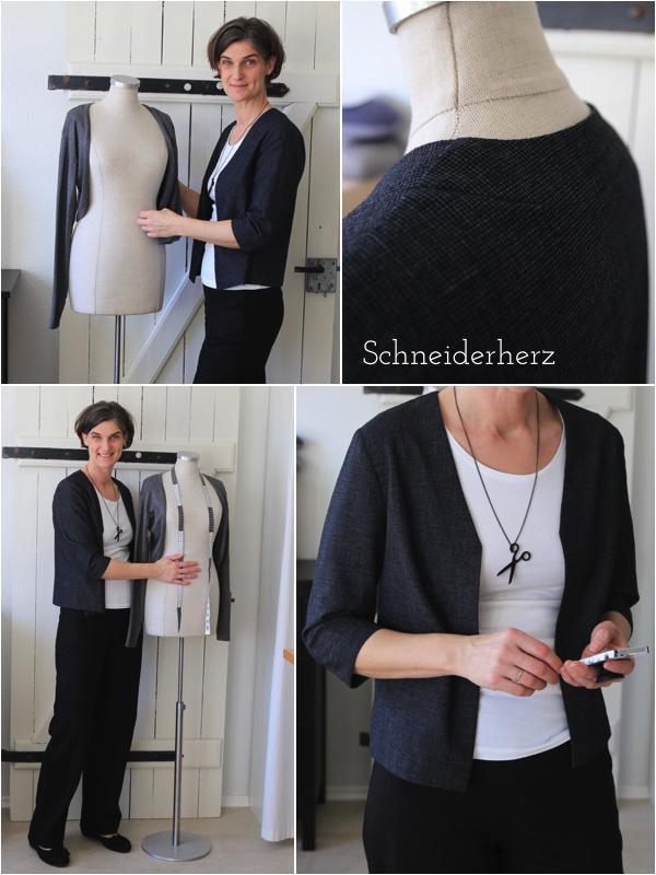 Schneiderherz Jacke nähen Schurwolle Basic