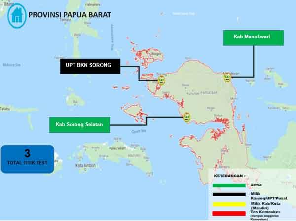 Lokasi Tes Cat BKN Propinsi Papua Barat