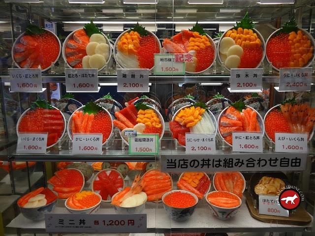 Donbori de fruits de mer à Hakodate