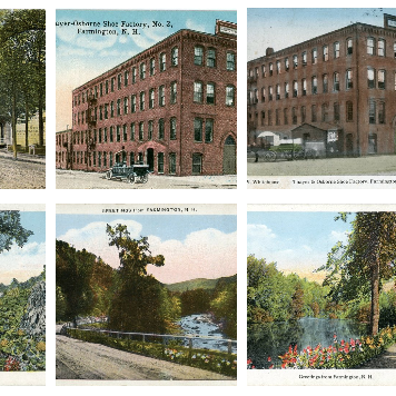 #FarmingtonNH Post Card Collection Exhibit #Museum of #Farmington #History