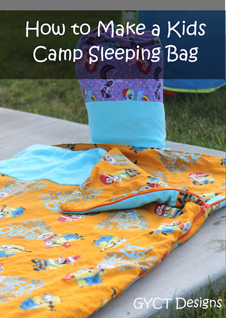 How to Make a Kids Camp Sleeping Bag Tutorial